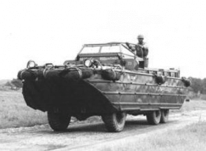 Duck Boats - An original DUKW in use during the war.